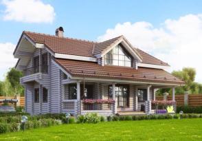 Дома из оцилиндрованного бревна готовый проект