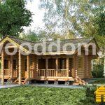 Слайд | Проекты домов из оцилиндрованного бревна | №3