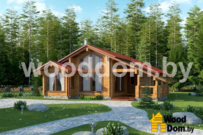 Большой проект дома из профилированного