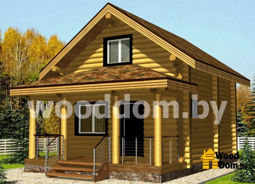 Слайд | Проекты домов из оцилиндрованного бревна | №2
