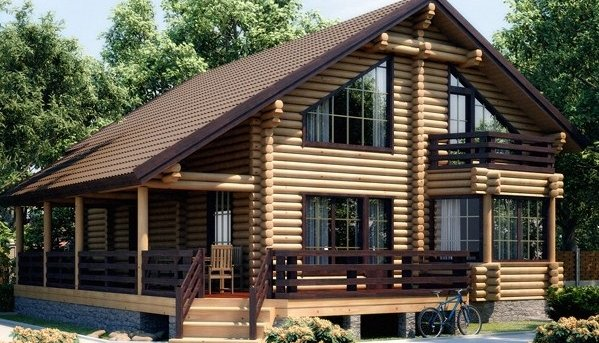 Строительство дома из ангарской сосны под ключ