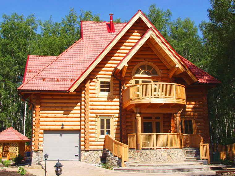 Строительство домов из сибирского кедра для богатых людей