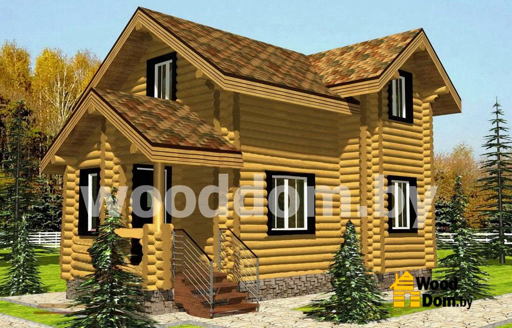 Слайд | Проекты домов из оцилиндрованного бревна | №1